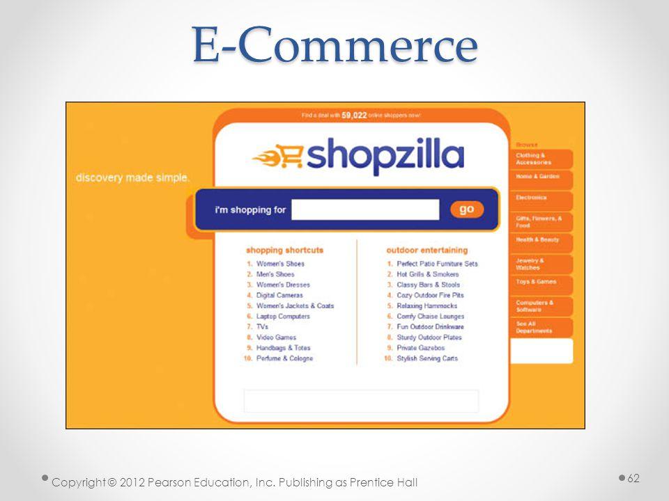 E-Commerce * 07/16/96 Copyright © 2012 Pearson Education, Inc. Publishing as Prentice Hall *