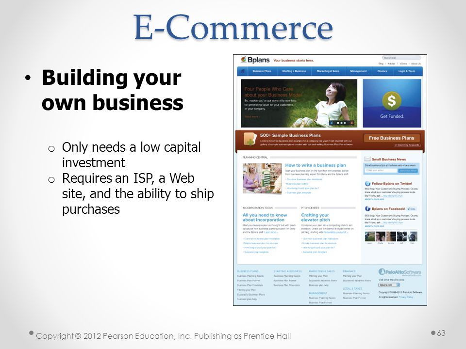 E-Commerce Building your own business