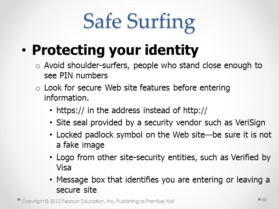 Safe Surfing Protecting your identity