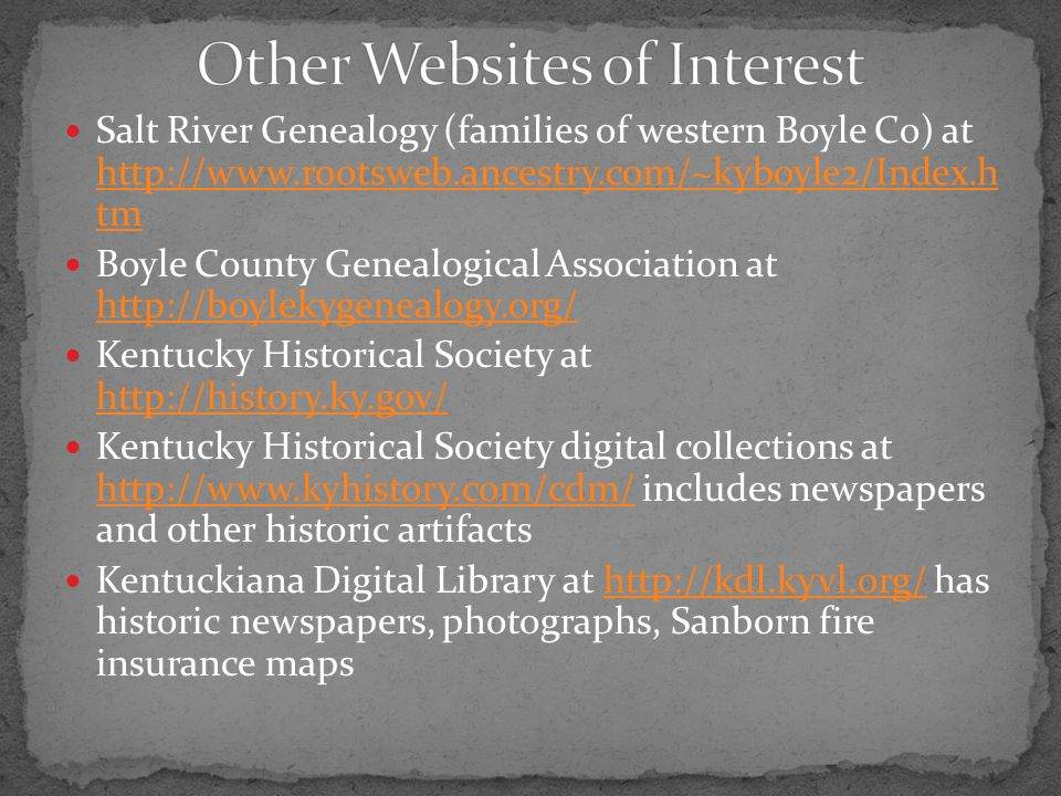 Other Websites of Interest