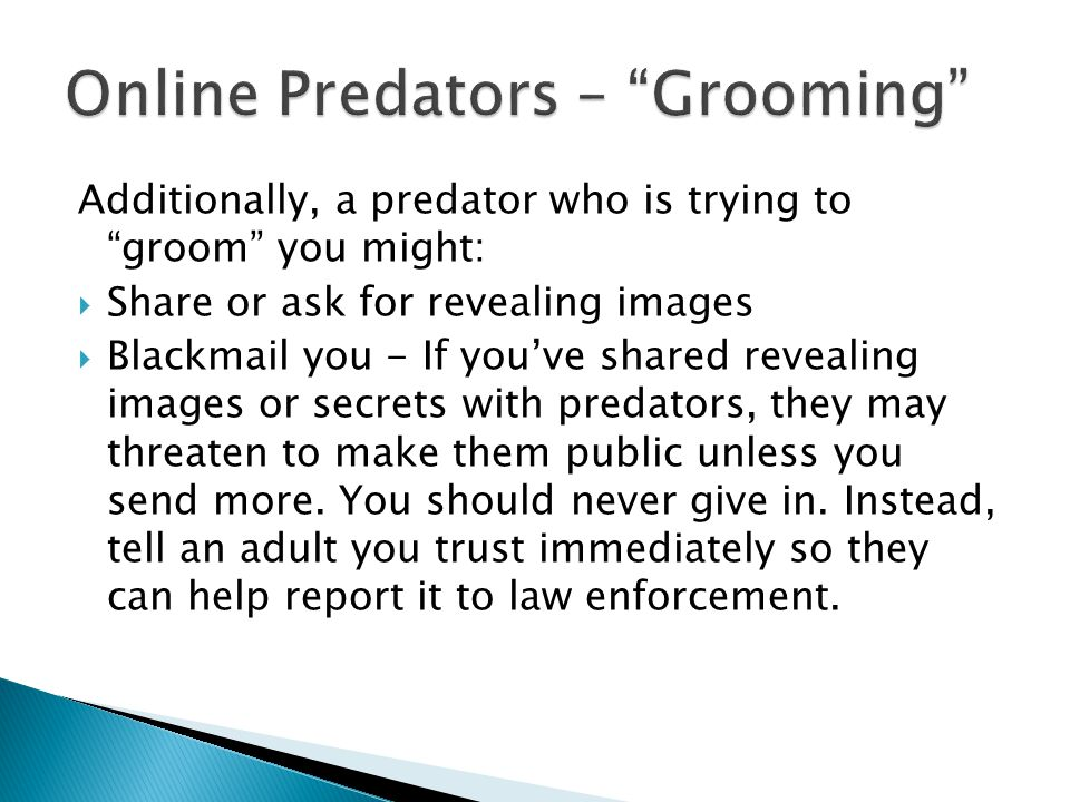 Online Predators – Grooming