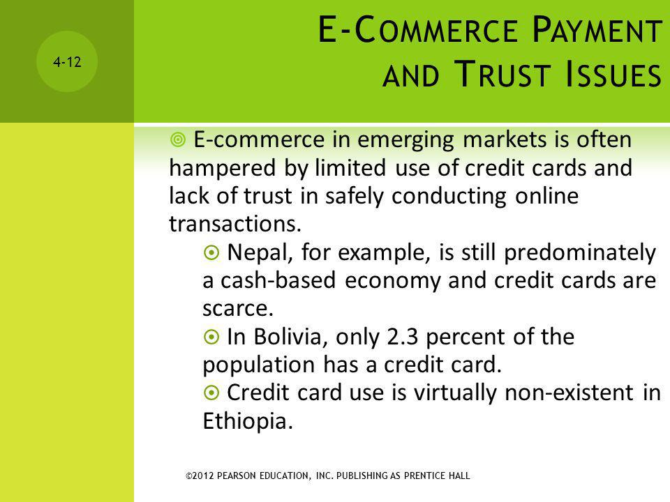 E-Commerce Payment and Trust Issues