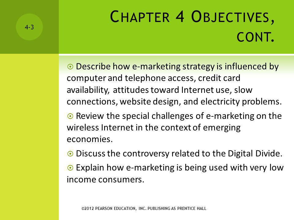 Chapter 4 Objectives, cont.