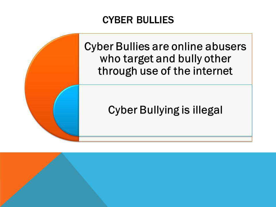 Cyber Bullying is illegal