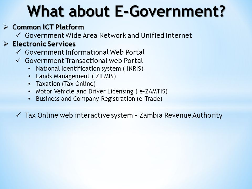 What about E-Government