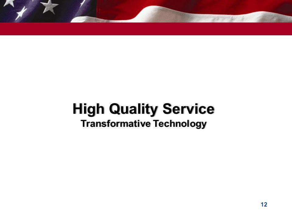 High Quality Service Transformative Technology