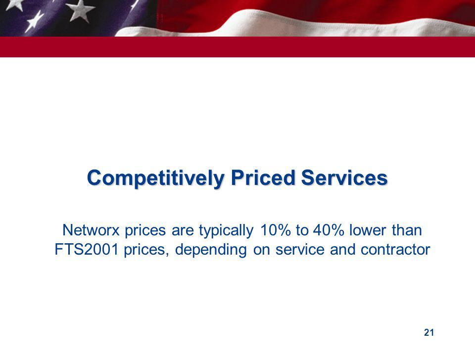 Competitively Priced Services