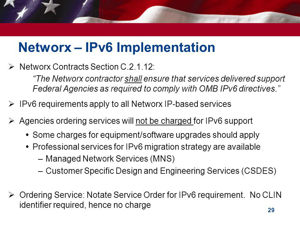 Networx – IPv6 Implementation