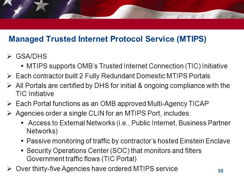 Managed Trusted Internet Protocol Service (MTIPS)