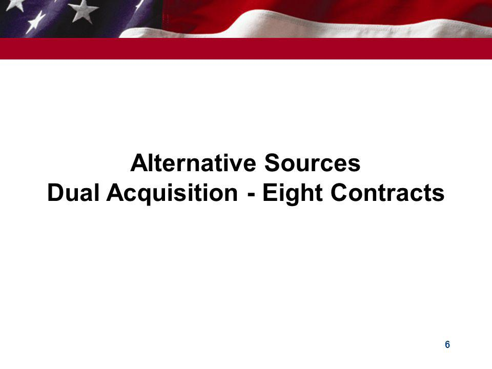 Alternative Sources Dual Acquisition - Eight Contracts