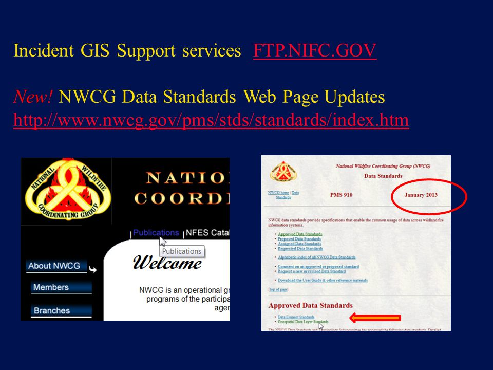 Incident GIS Support services FTP.NIFC.GOV