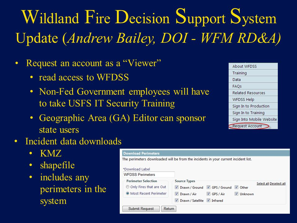 Wildland Fire Decision Support System