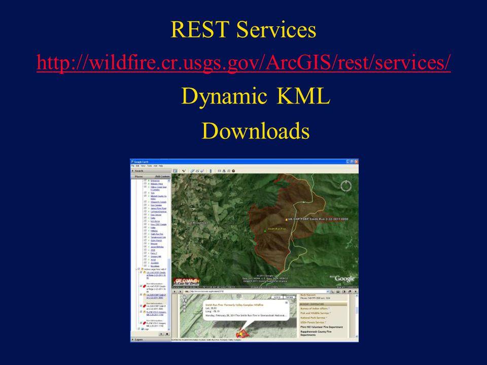 REST Services Dynamic KML Downloads