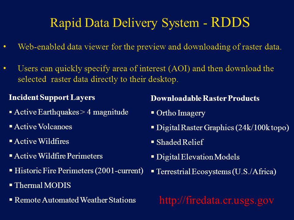 Rapid Data Delivery System - RDDS
