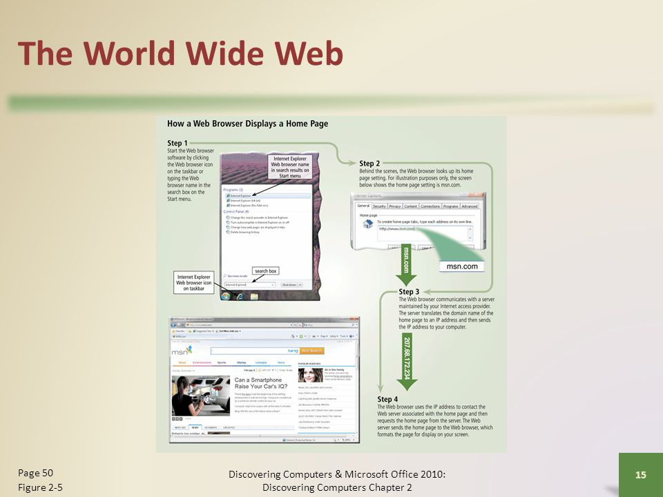 The World Wide Web Page 50 Figure 2-5