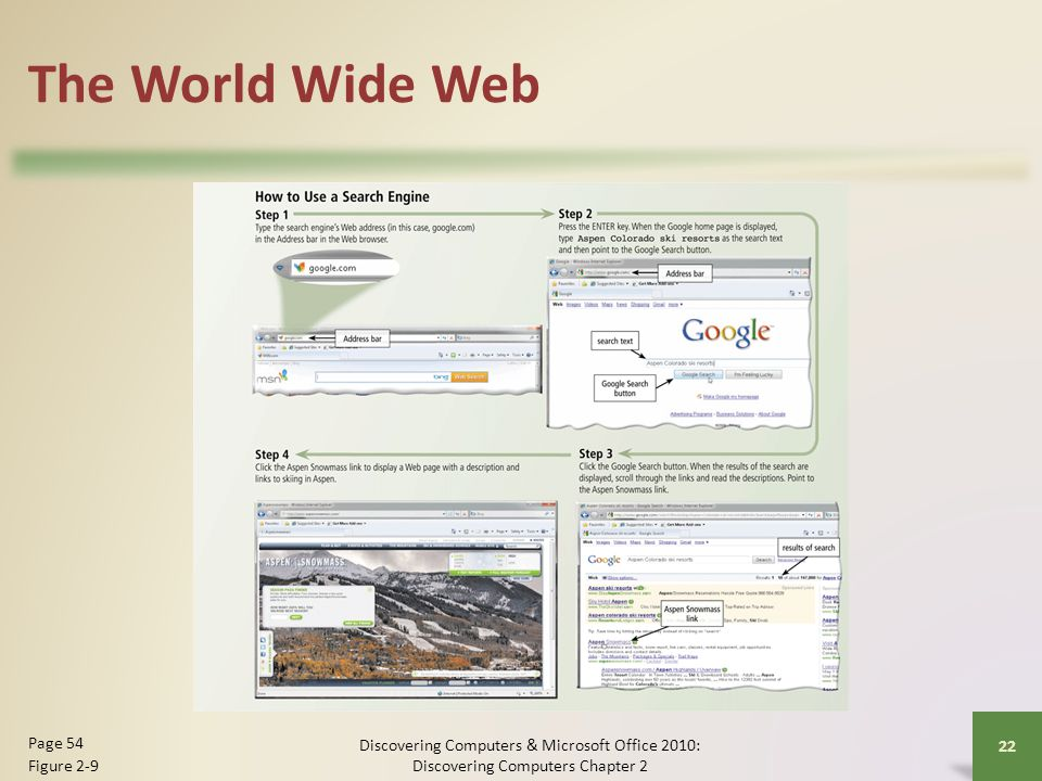 The World Wide Web Page 54 Figure 2-9