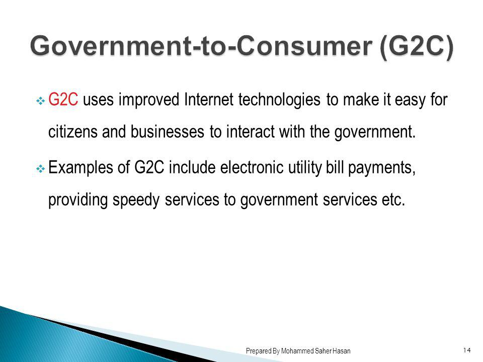 Government-to-Consumer (G2C)