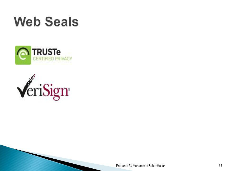 Web Seals Prepared By Mohammed Saher Hasan