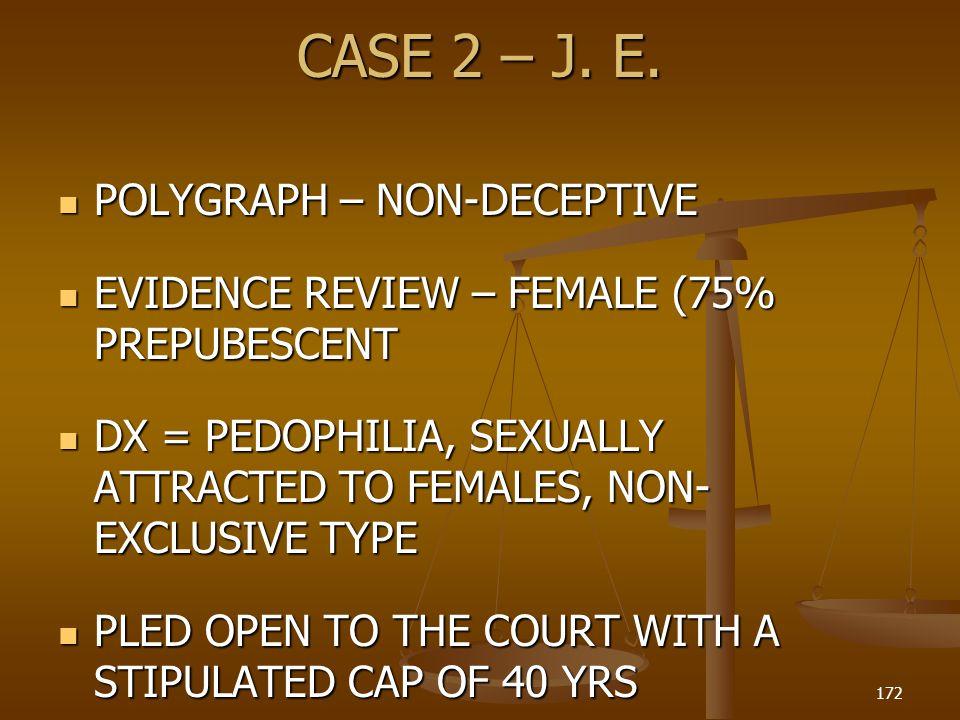 CASE 2 – J. E. POLYGRAPH – NON-DECEPTIVE