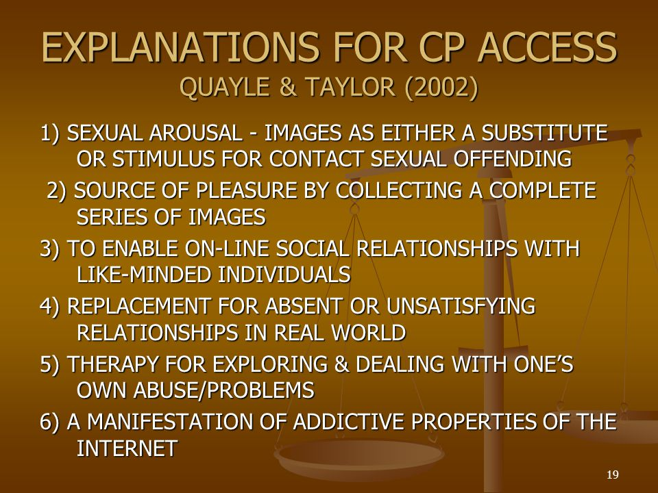 EXPLANATIONS FOR CP ACCESS QUAYLE & TAYLOR (2002)