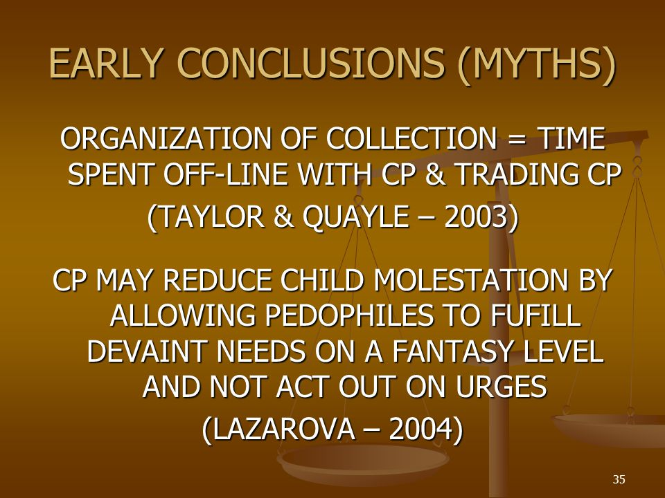 EARLY CONCLUSIONS (MYTHS)