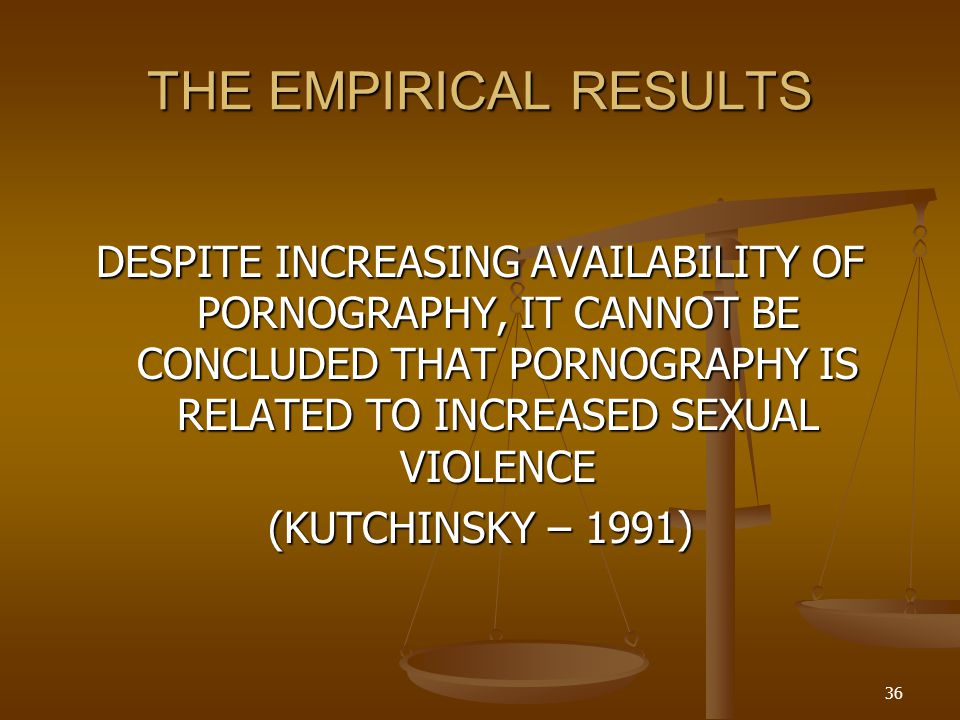THE EMPIRICAL RESULTS