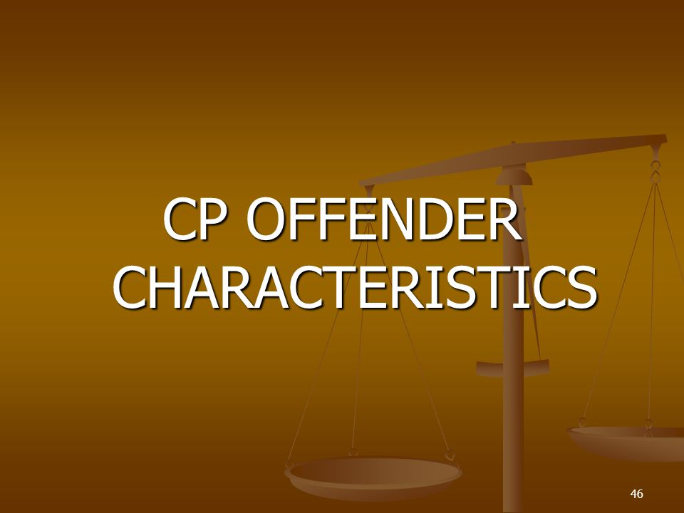 CP OFFENDER CHARACTERISTICS