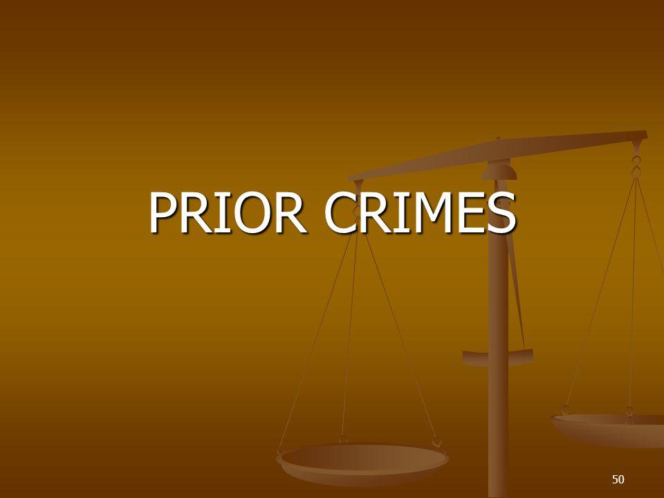 PRIOR CRIMES