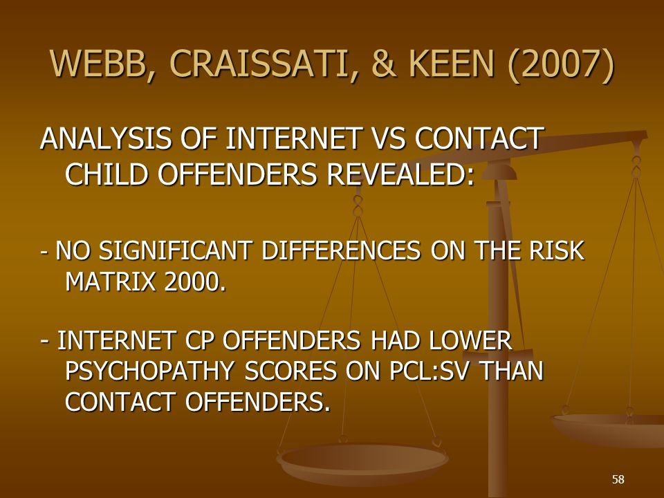 WEBB, CRAISSATI, & KEEN (2007)