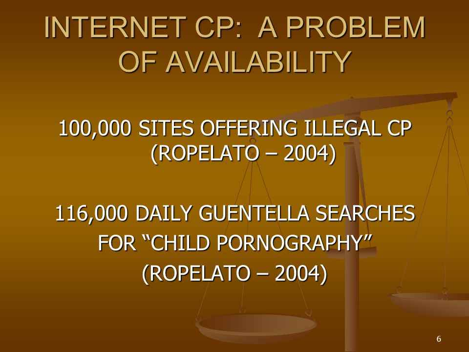 INTERNET CP: A PROBLEM OF AVAILABILITY