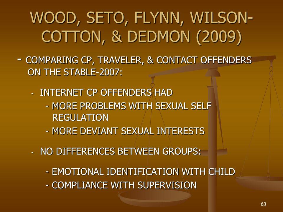 WOOD, SETO, FLYNN, WILSON-COTTON, & DEDMON (2009)