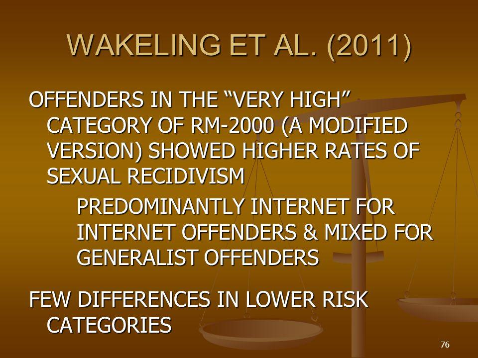 WAKELING ET AL. (2011)