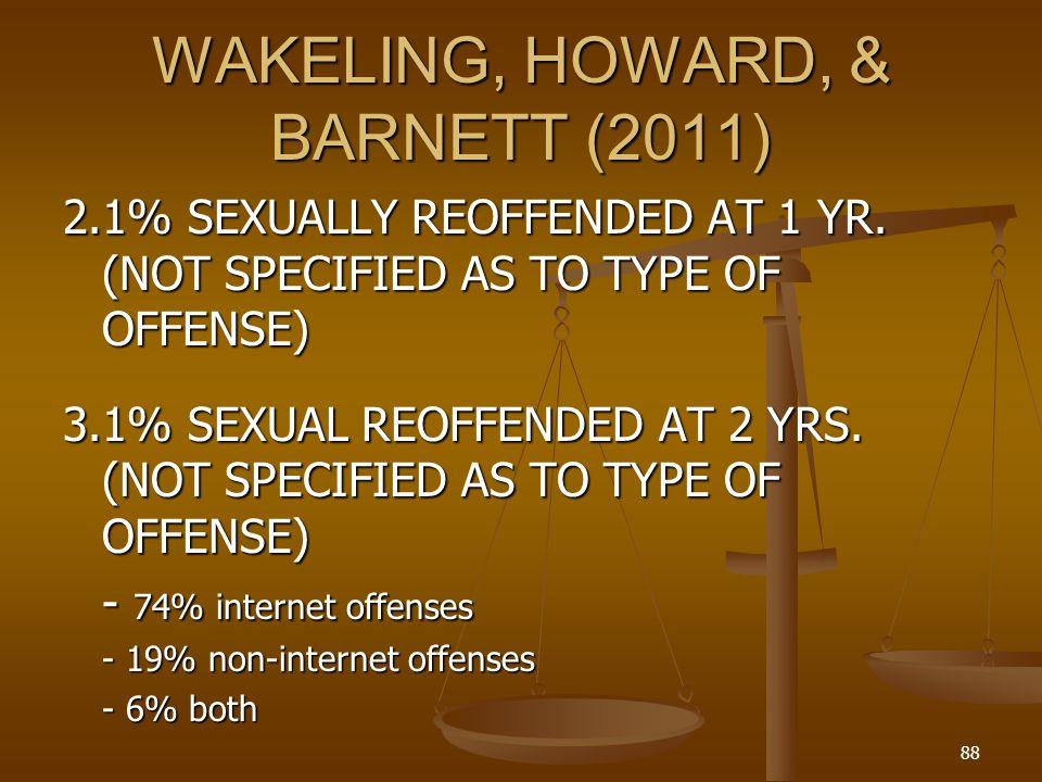 WAKELING, HOWARD, & BARNETT (2011)