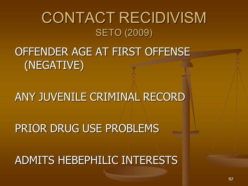 CONTACT RECIDIVISM SETO (2009)