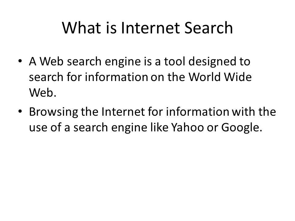 What is Internet Search