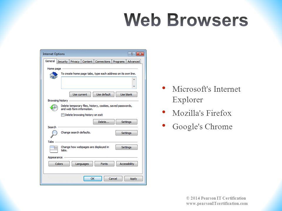 Web Browsers Microsoft s Internet Explorer Mozilla s Firefox