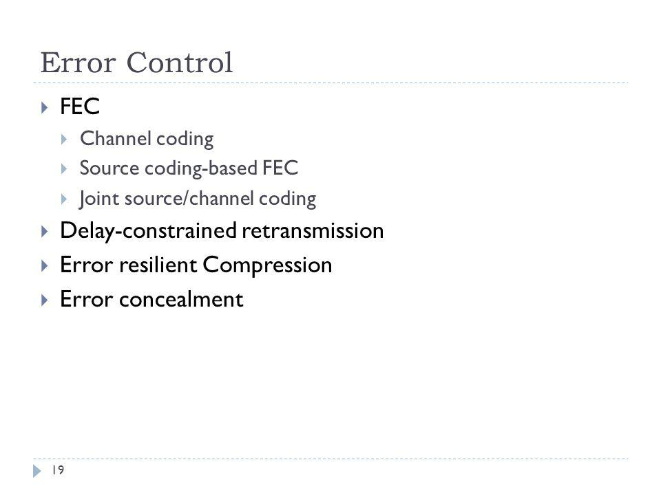 Error Control FEC Delay-constrained retransmission