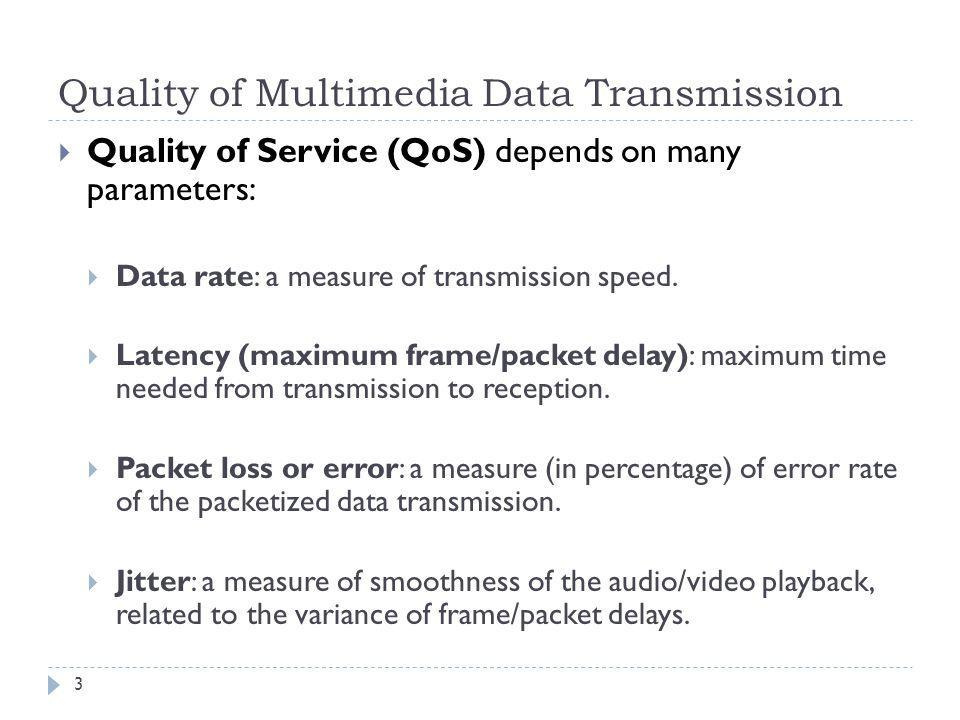 Quality of Multimedia Data Transmission