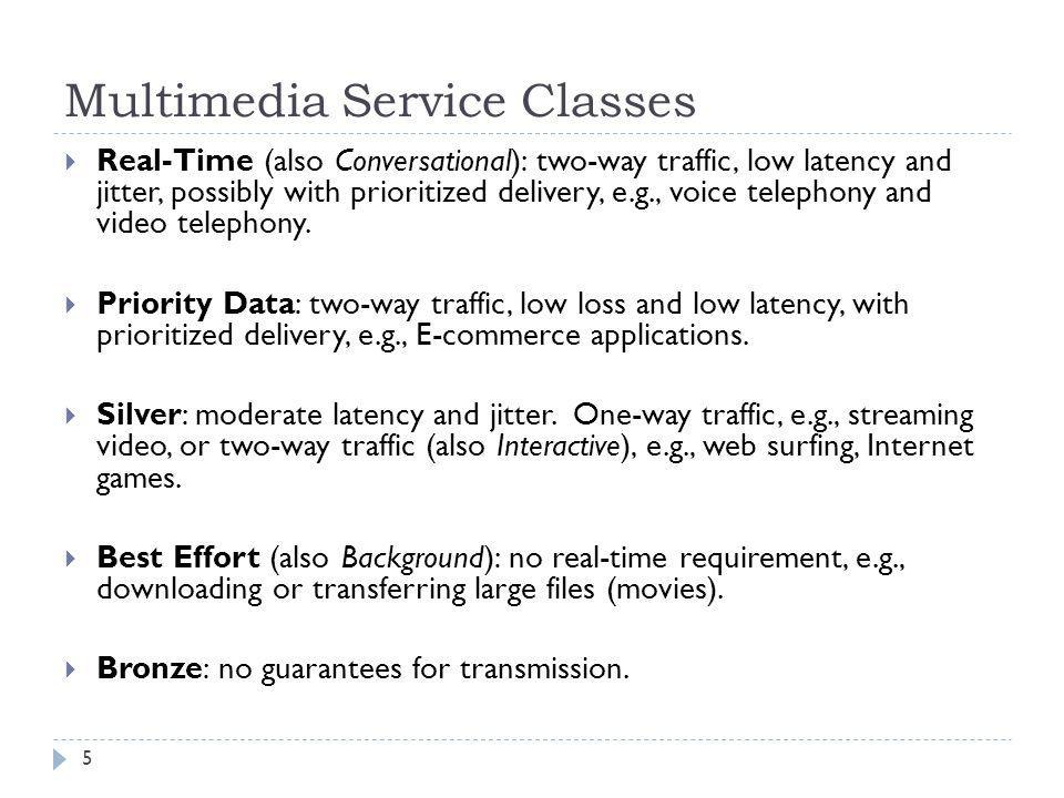 Multimedia Service Classes