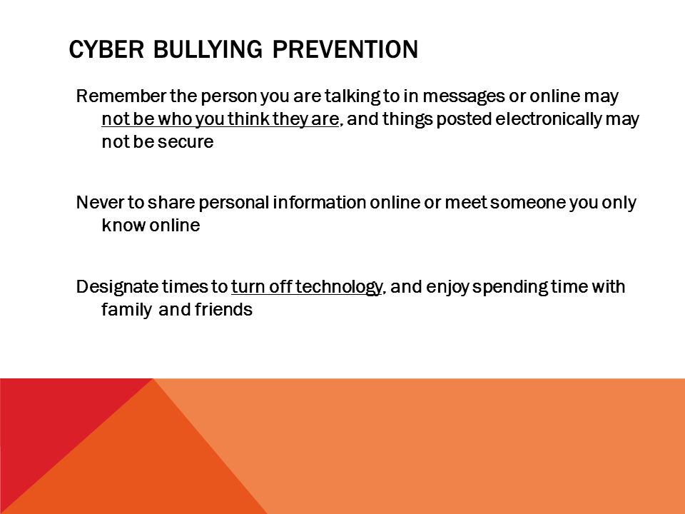 Cyber Bullying Prevention