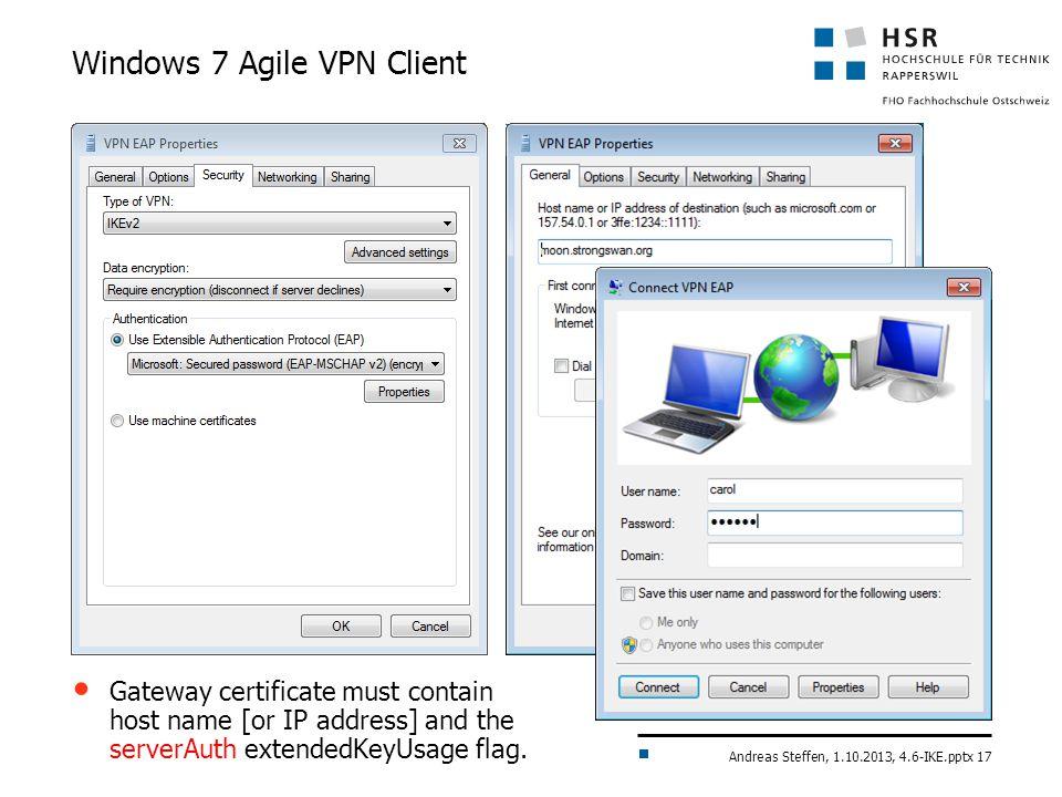 Windows 7 Agile VPN Client