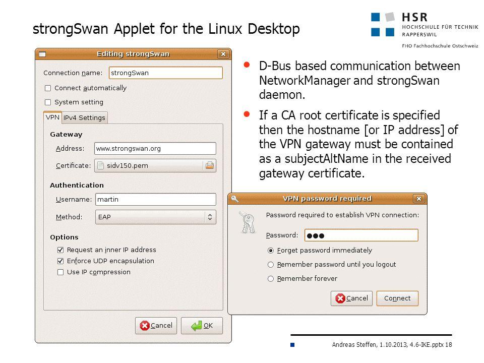 strongSwan Applet for the Linux Desktop