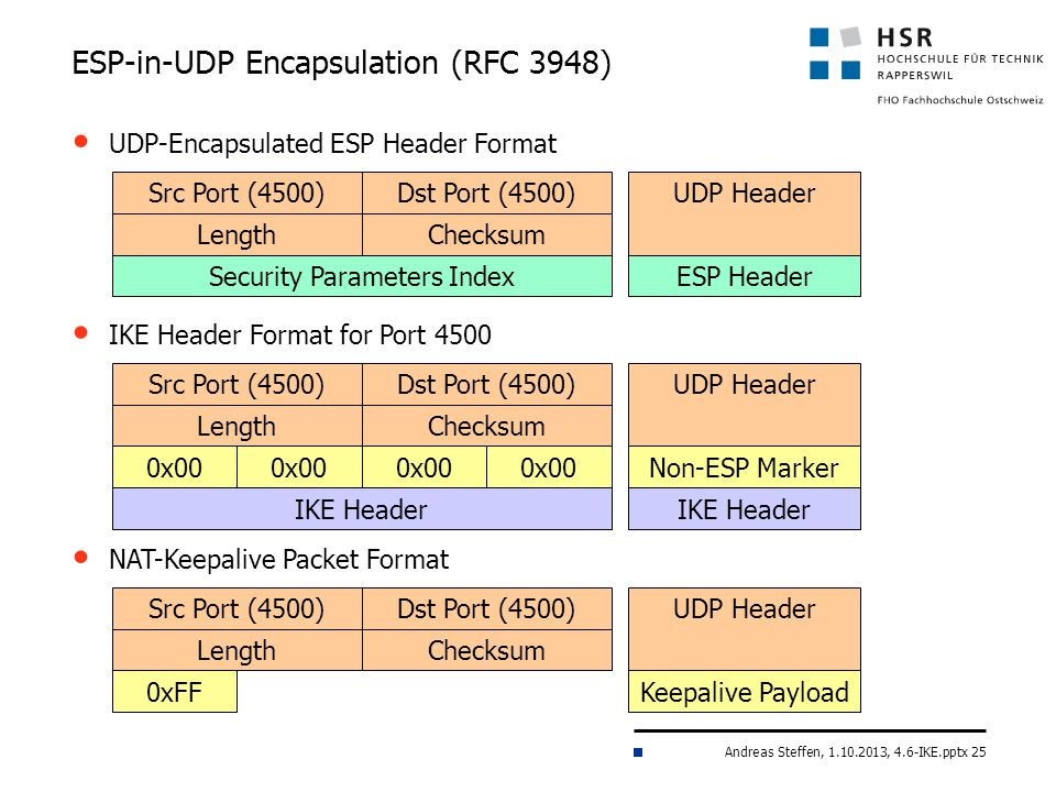 ESP-in-UDP Encapsulation (RFC 3948)