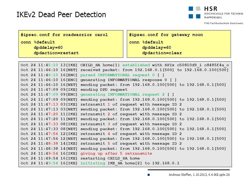 IKEv2 Dead Peer Detection