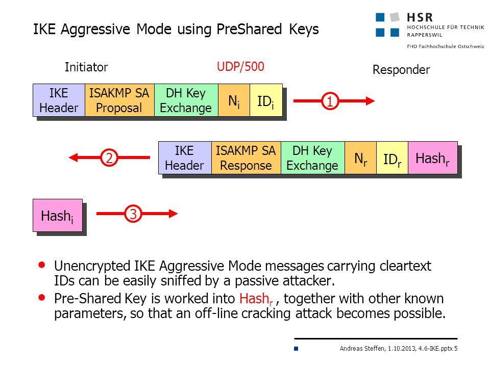 IKE Aggressive Mode using PreShared Keys