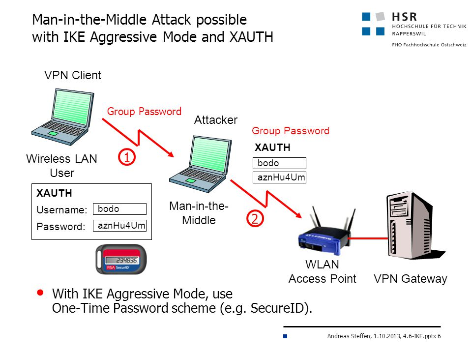 Man-in-the-Middle Attack possible with IKE Aggressive Mode and XAUTH