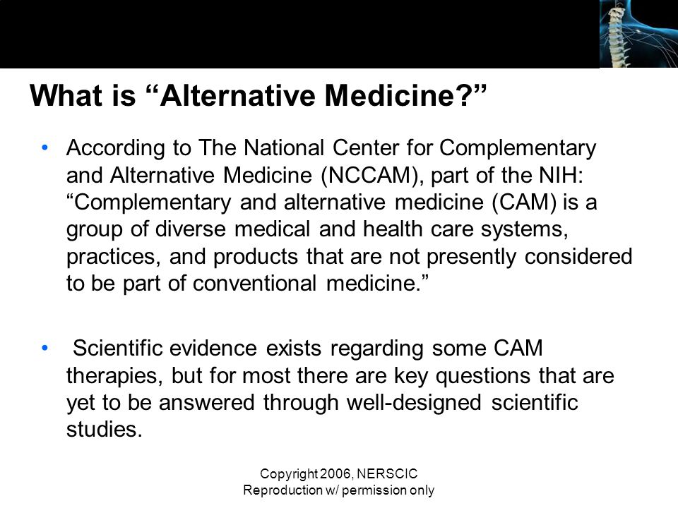 What is Alternative Medicine