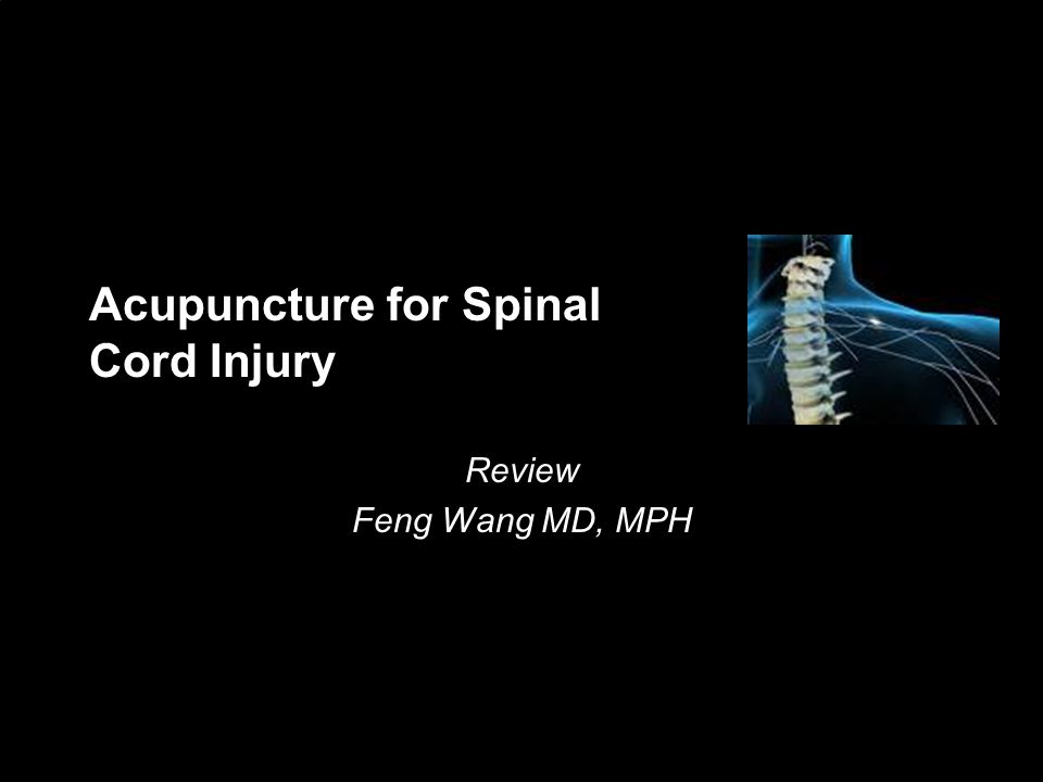 Acupuncture for Spinal Cord Injury