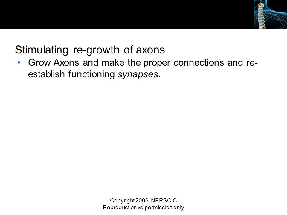 Stimulating re-growth of axons
