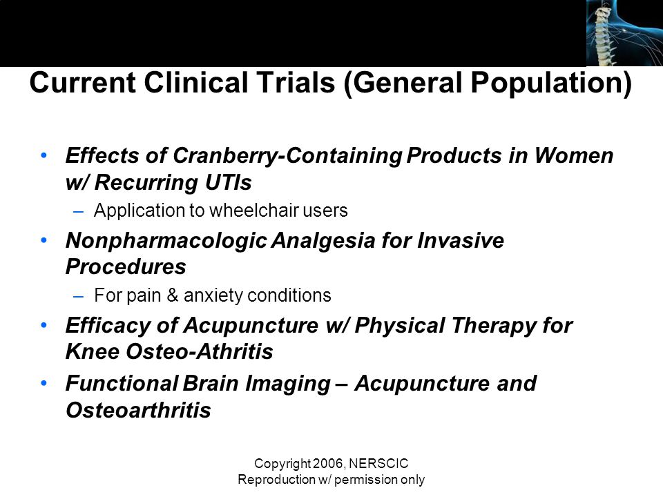Current Clinical Trials (General Population)